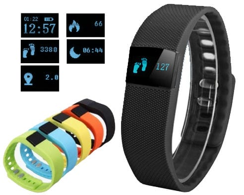 Fitness náramek FT64, OLED, Bluetooth 4.0, Android+iOS